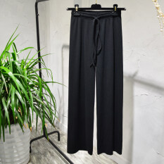 ขาย ซื้อ หลวมเกาหลีหญิงฤดูใบไม้ผลิและฤดูร้อนนักเรียนกระโปรงกางเกงขากว้าง สีดำ
