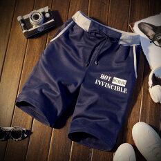 กางเกงขายาว ผู้ชาย ลำลอง ไซส์ใหญ่ ระบายอากาศ สีน้ำเงินเข้ม สีน้ำเงินเข้ม ฮ่องกง