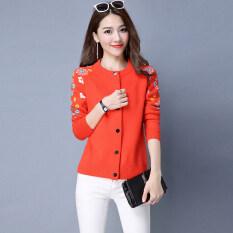 ซื้อ เสื้อสเวตเตอร์ถักใหม่เสื้อกันหนาว สีส้ม ใหม่