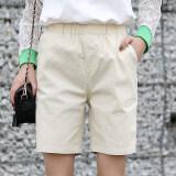 ขาย หลวมหญิงของผู้หญิงตรงส่วนบางกางเกงห้ากางเกง สีเบจ ฮ่องกง ถูก