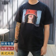 ราคา Looesn ในช่วงฤดูร้อนของผู้ชายที่จะเพิ่มรหัสเสื้อยืดผู้ชายแขนสั้นเสื้อยืด สีดำ