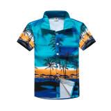 ทบทวน ที่สุด เสื้อเชิ้ตผู้ชาย ลายดอกไม้สำหรับใส่ท่องเที่ยวฤดูร้อน 30 ทะเลมะพร้าวสีฟ้า 30 ทะเลมะพร้าวสีฟ้า