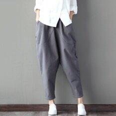 ส่วนลด หัวไชเท้ากางเกงย้อนยุคกางเกงยุบ Harlan ฤดูใบไม้ผลิใหม่ สีเทา ฮ่องกง