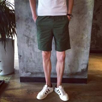 กางเกงสั้นผู้ชายสำหรับฤดูร้อนหลวมสีขาวกางเกงกีฬากางเกง 5 ส่วนคู่รักชายหาดกางเกงกางเกงลำลองกางเกงขาสั้นผู้ชายดรายเอ็กซ์ไหลบ่าเข้ามาในช่วงฤดูร้อน