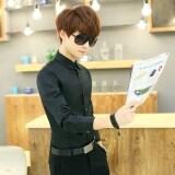 ทบทวน ที่สุด เสื้อแขนยาวชาย ลายสก๊อต สไตล์เกาหลี ใส่สบาย บริสุทธิ์สีดำเสื้อ
