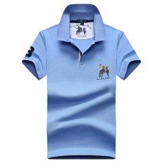 ขาย Freenoble เสื้อคอปกโปโลชาย ทรงกว้าง ผ้าฝ้ายเมอร์เซอร์ไรซ์ สีฟ้าอ่อน สีฟ้าอ่อน Unbranded Generic เป็นต้นฉบับ