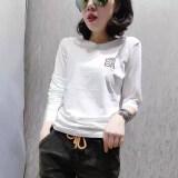 ราคา Ins เสื้อผ้าแฟชั่น เสื้อเกาหลีเสื้อยืดผ้าฝ้ายหญิงใหม่ สีขาว เป็นต้นฉบับ