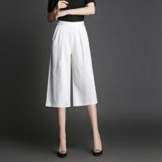 ส่วนลด เกาหลีเป็นบางหลาใหญ่ Looesn กางเกงขากว้างกางเกง สีขาว กางเกง Unbranded Generic ใน ฮ่องกง