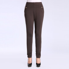 ซื้อ Looesn หญิงฤดูใบไม้ผลิยืดตรงกางเกงขายาวกางเกง สีกากีลึก Unbranded Generic