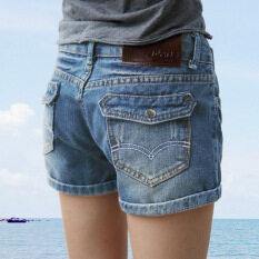 ความคิดเห็น Yikulangกางเกงยีนส์ขาสั้นสไตล์เกาหลี ท้องฟ้าสีฟ้าอ่อน ท้องฟ้าสีฟ้าอ่อน
