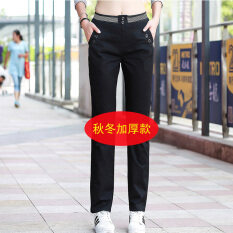 ซื้อ Looesn หญิงใหม่ฤดูใบไม้ผลิและฤดูใบไม้ร่วงกางเกงฤดูใบไม้ร่วงกางเกงลำลอง สีดำหนา Unbranded Generic เป็นต้นฉบับ