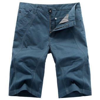2018 เสื้อผ้าแฟชั่น กางเกงขาสั้นผู้ชายชายฤดูร้อนแบบบางเพิ่มขนาดไซส์ใหญ่พิเศษฝ้าย100% ซุปเปอร์หลวมอ้วนกางเกงลำลองกางเกง 5 ส่วน-