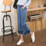 ซื้อ Bf ถุงน่องเวอร์ชั่นเกาหลีกางเกงขากว้างกางเกงยีนส์หญิงฤดูใบไม้ผลิและฤดูใบไม้ร่วง แสงสีฟ้า ใน ฮ่องกง