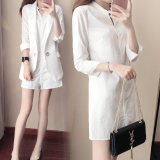 ซื้อ มม เสื้อเกาหลีเสื้อแขนยาวหญิงหลวม สีขาว ถูก ฮ่องกง