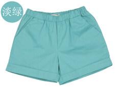 ส่วนลด กางเกงขาสั้นลำลองกางเกงขาสั้นผ้าฝ้ายสีทึบนางสาว สีเขียวอ่อน ฮ่องกง