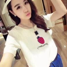 ซื้อ Looesn เกาหลีฤดูร้อนนักเรียนติดตั้งแขนสั้นสีขาวเสื้อยืด 9001 ใหม่ล่าสุด