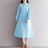 ซื้อ หลวมวรรณกรรมฝ้ายใหม่ยืนขึ้นปกชุด สีฟ้า สีฟ้า ถูก ใน ฮ่องกง