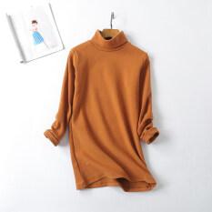 ซื้อ หลวมเกาหลี Shu กำมะหยี่ขนาดใหญ่ของผู้หญิงเสื้อคอสูงแขนยาวเสื้อยืด สีกากี Unbranded Generic เป็นต้นฉบับ