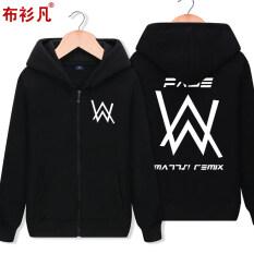 โปรโมชั่น เสื้อมีฮู้ดซิปของผู้ชายBushanfan สไตล์เกาหลี สีดำ K705 สีดำ K705