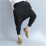 ส่วนลด สินค้า หลวม Mm2018 เกาหลีหญิงใหม่ผอมยุบกางเกงกางเกงฮาเร็ม สีดำ