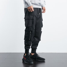 ราคา Ins เสื้อผ้าแฟชั่น กางเกงฮิปฮอปเกาหลี Overalls กางเกงชายหลวม เย็นสีดำ ออนไลน์ ฮ่องกง