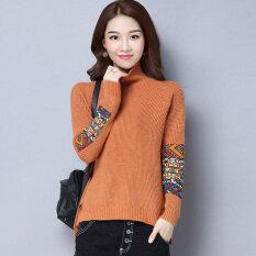 ขาย เสื้อกันหนาวแฟชั่นฤดูใบไม้ร่วงและฤดูหนาวใหม่ สีน้ำตาล เป็นต้นฉบับ