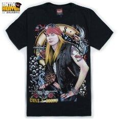 Guns N Roses เสื้อยืดชายเสื้อร็อคแขนสั้นคอกลมหลวม T 183 แขนสั้นเสื้อยืด เป็นต้นฉบับ