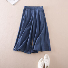 ราคา หลวม W2079 วิทยาลัยหญิงกางเกงยีนส์ใหม่ Denim กางเกง สีน้ำเงินเข้ม ใหม่ ถูก