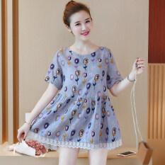 ขาย หญิงเสื้อวรรณกรรม Wawa ฉานใหม่ไซส์พิเศษไซส์ใหญ่พิเศษหลวม สีรูปภาพ Other ถูก