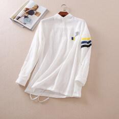 ขาย ซื้อ Wumart Wd300 เสื้อเชิ้ตสีขาวปักใหม่หลวมเสื้อสวมหัว สีขาว ใน ฮ่องกง