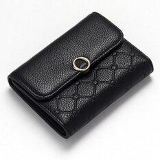 โปรโมชั่น Love Shopping กระเป๋าสตางค์ กระเป๋าตังส์ หนังคุณภาพกันน้ำ ทรงสั้น สีดำ Lovely ใหม่ล่าสุด