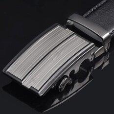 ราคา Love Shopping เข็มขัดหนังแท้ผู้ชาย หัวเข็มขัดแบบล๊อคอัตโนมัต สายเข็มขัดหนังแท้สีดำ Men S Genuine Leather Black Belt เป็นต้นฉบับ Lovely