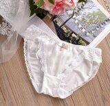 ส่วนลด สินค้า Lovely Briefs Womenultra Soft Lace Panties Band Wire Drawing Chiffon Ladies Underwear Intl