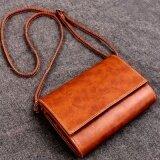 ซื้อ Lovin Fashion Women Pu Patchwork Cross Body Bag Brown Intl ใน จีน