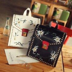 ขาย ซื้อ ออนไลน์ Lovin Fashion Women Pu Patchwork Shoulder Bag Cross Body Bag Back Intl