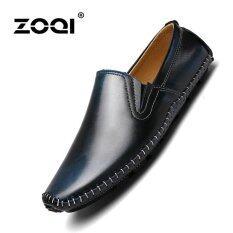 ซื้อ Low Cut Formal Shoes Leather Shoes Zoqi Men S Fashion Casual Shoes Blue Intl Zoqi เป็นต้นฉบับ