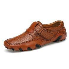 Luxury Brand Men Shoes Genuine Leather Big Size Men Driving Shoes Good Quality Soft Men Loafers Intl เป็นต้นฉบับ