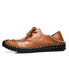 โปรโมชั่น Luxury Brand Summer Men Shoes Genuine Leather Big Size Men Driving Shoes Quality Intl ถูก