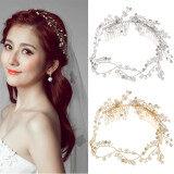ราคา Luxury Crystal Pearl Wedding Bridal Tiara Hair Accessories Tiara Bride Headband Gold Intl ออนไลน์