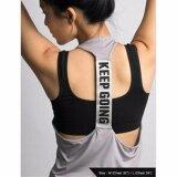 ราคา เสื้อกล้าม ออกกำลังกาย สำหรับสุภาพสตรี สีเทา L ใน กรุงเทพมหานคร