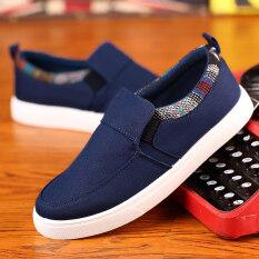 ขาย Ji Ji Mu รองเท้าลำลองผู้ชายพื้นเรียบผ้าแคนวาส M618 สีน้ำเงินเข้ม M618 สีน้ำเงินเข้ม Unbranded Generic เป็นต้นฉบับ