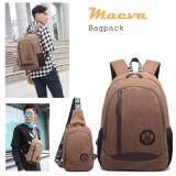 ราคา Maeva Set Backpack Shoulder Bag กระเป๋าโน๊ตบุ๊ค กระเป๋าเป้สะพายหลัง กระเป๋าเป้เดินทาง กระเป๋าสะพายพาดลำตัวกระเป๋าคาดอก Mv 040 สีน้ำตาล Maeva Shop