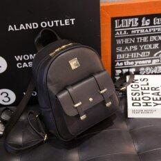 ขาย ซื้อ ออนไลน์ Maeva Shop กระเป๋าเป้ กระเป๋าสะพาย กระเป๋าแฟชั่นเกาหลี กระเป๋าเป้สะพายหลัง Mv 008 สีดำ