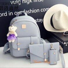 ขาย Maeva Shop กระเป๋าเป้สะพายหลัง กระเป๋าถือ กระเป๋าใส่กุณแจ เซ็ต 3 ใบ Mv3 007 สีเทา ออนไลน์ ใน Thailand
