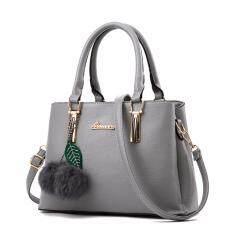 ทบทวน Maeva Shop กระเป๋าถือ กระเป๋าสะพายพาดลำตัว กระเป๋าแฟชั่นเกาหลี Mv 003 สีเทา Maeva Shop