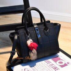 โปรโมชั่น Maeva Shop กระเป๋าถือ กระเป๋าสะพายพาดลำตัว กระเป๋าแฟชั่นเกาหลี Mv 023 สีดำ ถูก