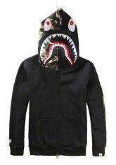 โปรโมชั่น Magicworldmall Fashion Sweater Hoodie New Men Bape A Bathing Ape Jacket Shark Head Hoodie Overcoat Sweatshirt Intl Unbranded Generic ใหม่ล่าสุด