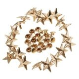 ขาย Magideal 20 Pieces Star Rivets Studs Spikes For Leather Bag Shoes Craft 13Mm Gold Intl ใน จีน