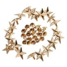 ขาย Magideal 20 Pieces Star Rivets Studs Spikes For Leather Bag Shoes Craft 13Mm Gold Intl ออนไลน์ ใน จีน