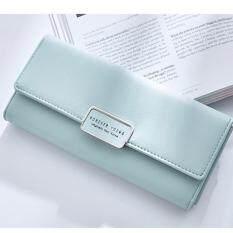 ซื้อ Mahkazi กระเป๋า กระเป๋าสตางค์ กระเป๋าสตางค์ผู้หญิง กระเป๋าสตางค์ผู้หญิงทรงยาว รุ่นGrbuww08 สีเขียวมิ้นท์ Forever Young เป็นต้นฉบับ